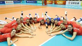 3 октября. Кобе. Корея – Россия – 0:3. Очередное фирменное празднование от россиянок.
