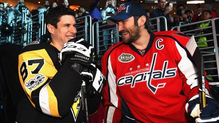Сидни Кросби (слева) и Александр Овечкин. Фото НХЛ