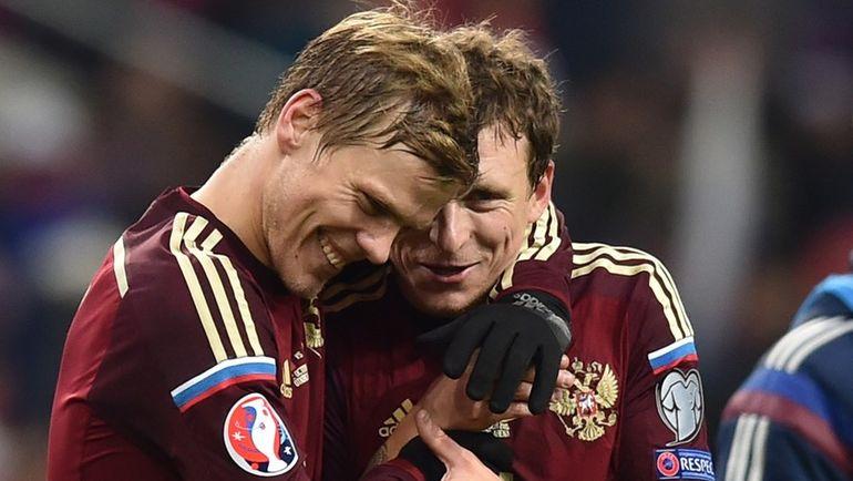 Александр Кокорин и Павел Мамаев. Фото AFP
