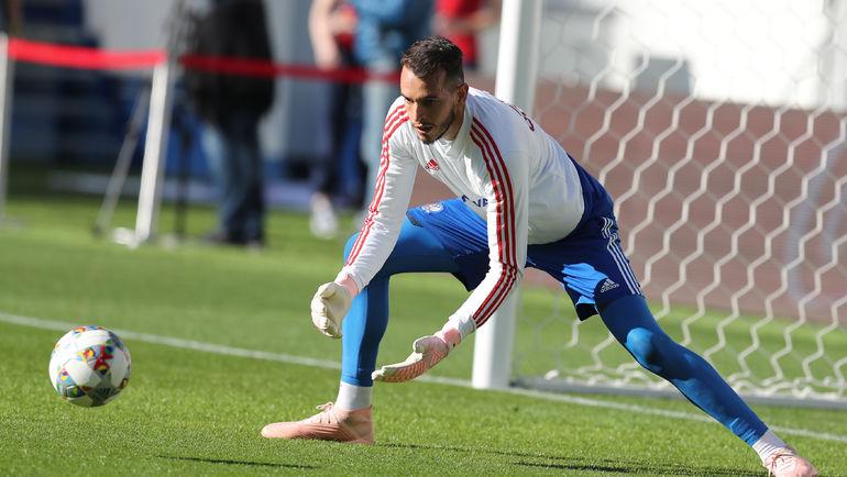 В матче против шведов наши ворота будет защищать Гильерме. Фото Александр Федоров, «СЭ»