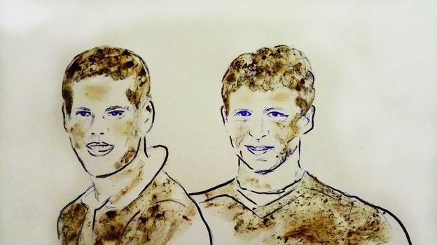 Александра Кокорина и Павла Мамаева нарисовали грудью и грязью.