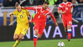 11 октября. Калининград. Россия – Швеция – 0:0. Денис Черышев (справа) и Виктор Классон.