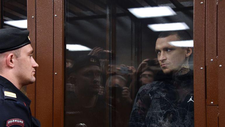 11 октября. Москва. Павел Мамаев во время заседания суда по своему делу. Фото REUTERS