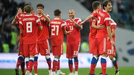14 октября. Сочи. Россия - Турция - 2:0. Футболисты сборной России.