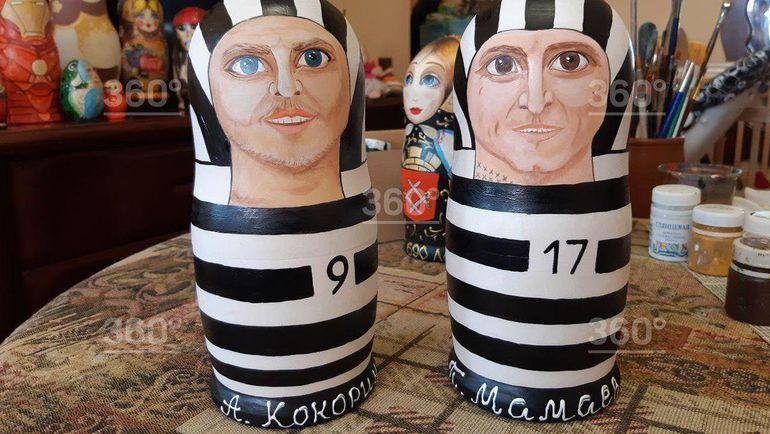 """Матрешки Кокорина и Мамаева. Фото Телеканал """"360""""."""