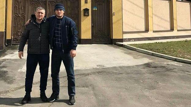 Хабиб (справа) и Нурмагомедо Нурмагомедовы в Полтаве. Фото ok.ru/teamkhabib