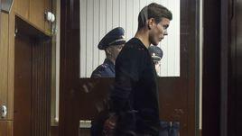 11 октября. Москва. Александр Кокорин на слушании своего дела в Тверском суде.