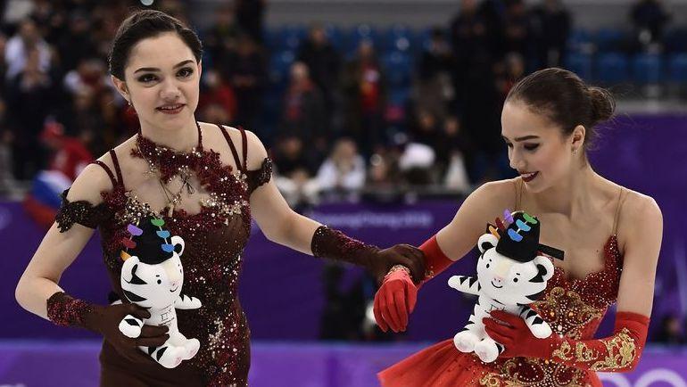 "Евгения Медведева и Алина Загитова не будут выступать на ""Скейт Америка"". Фото AFP"