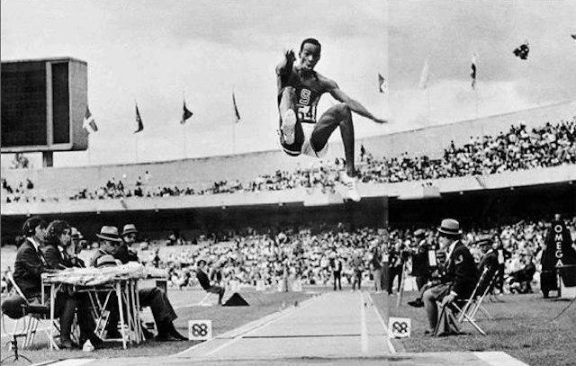 18 октября 1968 года. Мехико. Знаменитый прыжок Боба Бимона.
