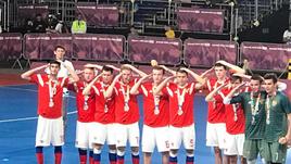 Игроки сборной России отпраздновали серебро юношеской Олимпиады жестом Дзюбы