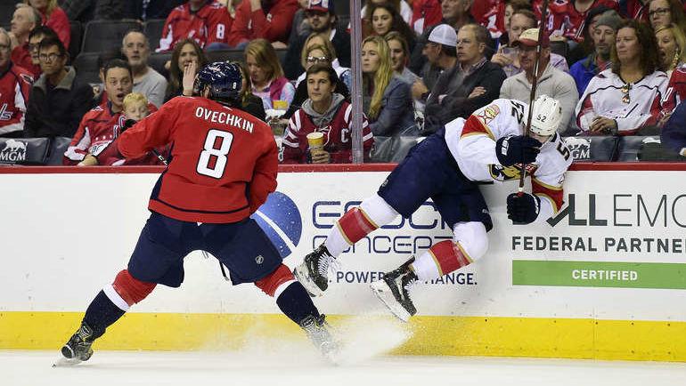 "20 октября. Вашингтон. ""Вашингтон"" - ""Флорида"" - 5:6 Б. Александр Овечкин. Фото NHL.com"