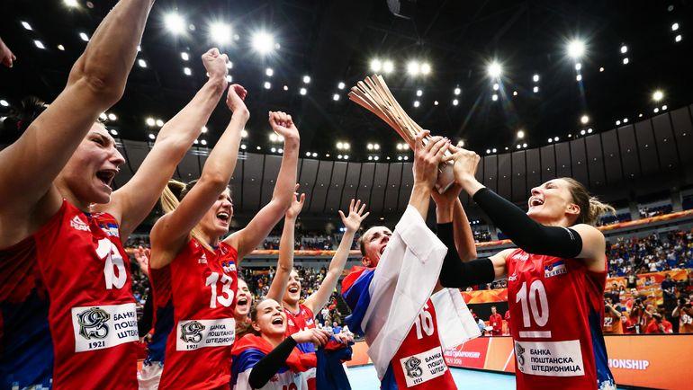 Сборная Сербии выиграла чемпионат мира в Японии. Фото fivb.org