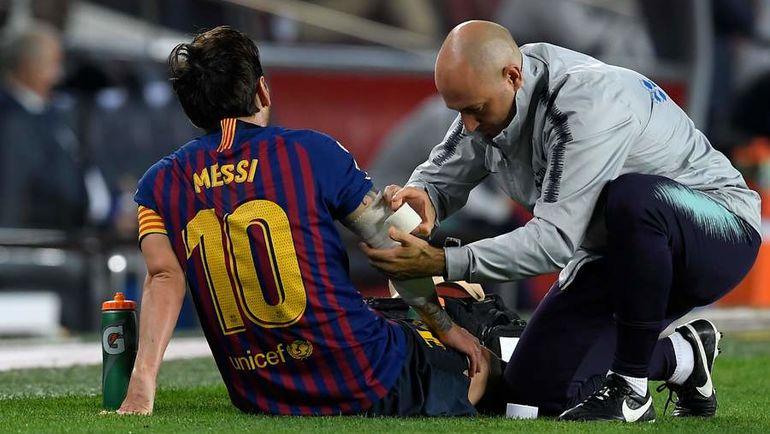Травма Лионеля Месси. Фото AFP