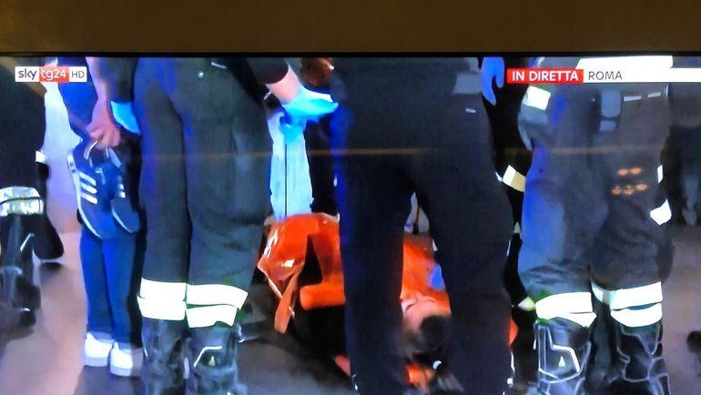 Сообщения об инциденте в новостях на итальянском ТВ.