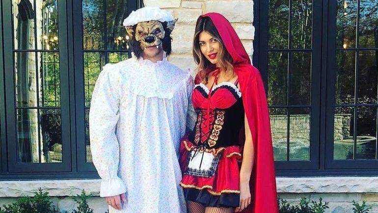 Владимир Тарасенко и его супруга Яна в образе Волка и Красной Шапочки. Фото Instagram