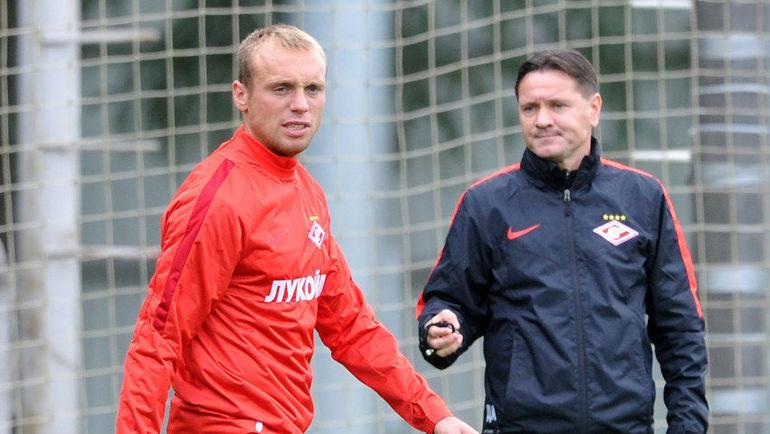 Денис Глушаков (слева) и Дмитрий Аленичев. Фото Никита Успенский