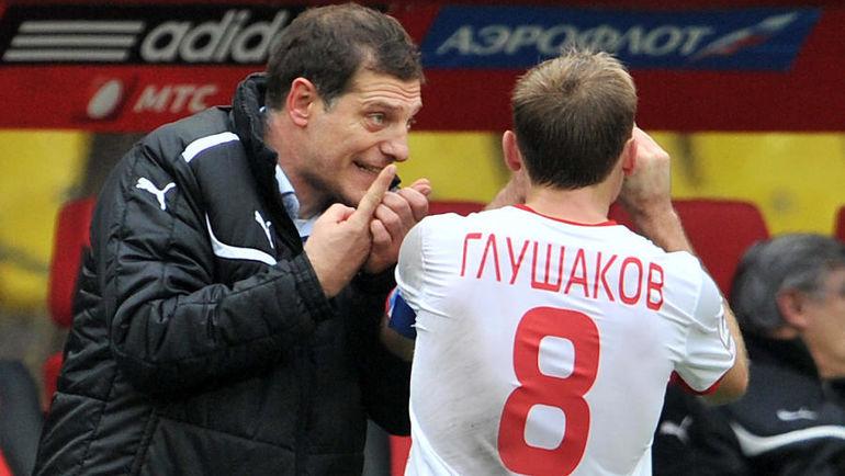 Славен Билич (слева) и Денис Глушаков. Фото Алексей Иванов, «СЭ»