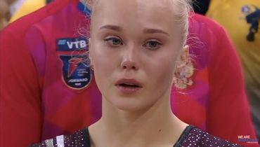 Решение судей довело российскую гимнастку до слез. Ангелине Мельниковой не хватило до медали 33 тысячных балла