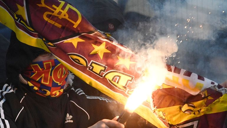 "Матч ЦСКА - ""Рома"". Фото AFP"