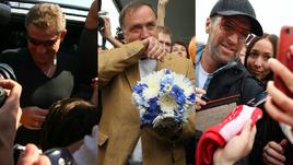 Слезы, шарики и толпы фанатов. Как провожали тренеров до Карреры