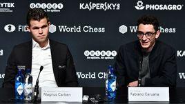 Магнус Карлсен и Фабиано Каруана.