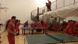 Сборная России по хоккею проводит турнир по настольному теннису и мини-флорболу