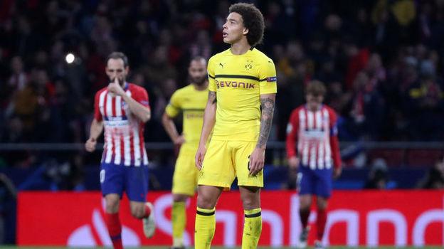 """6 ноября. Мадрид. """"Атлетико"""" - """"Боруссия"""" (Дортмунд) - 2:0. Аксель Витсель. Фото Reuters"""