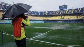Дождь перенес Кубок Либертадорес. Мокрые фото