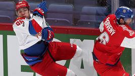 11 ноября. Хельсинки. Чехия - Россия - 5:2. Команда Ильи Воробьева уступила в заключительном для себя матче на турнире.