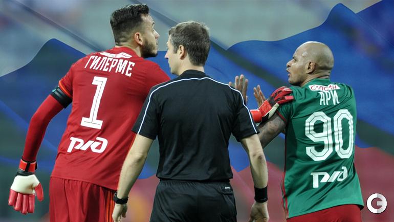 Натурализованные футболисты сборной России Гильерме и Ари.