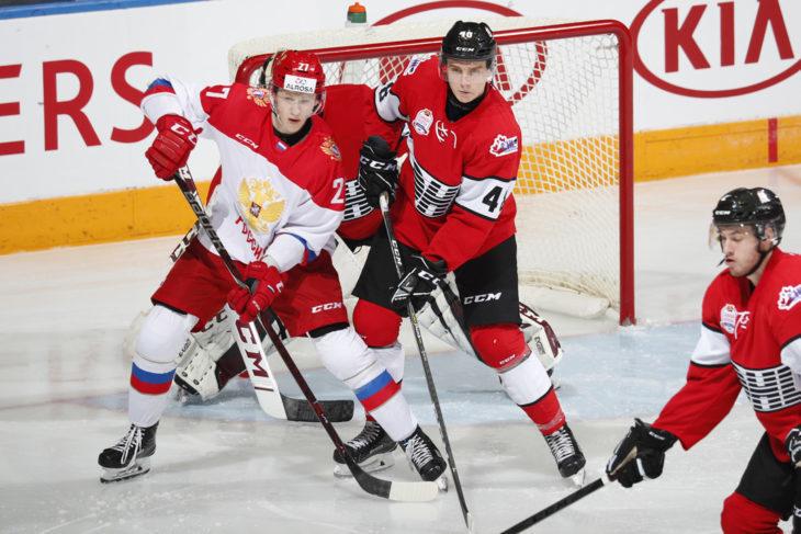 13 ноября. Шербрук. Россия U-20 – сборная QMJHL – 5:1. Фото fhr.ru
