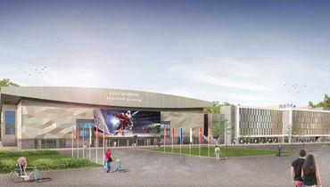Новую хоккейную арену в Сокольниках представили на выставке в Каннах. Вместимость – 12500 зрителей