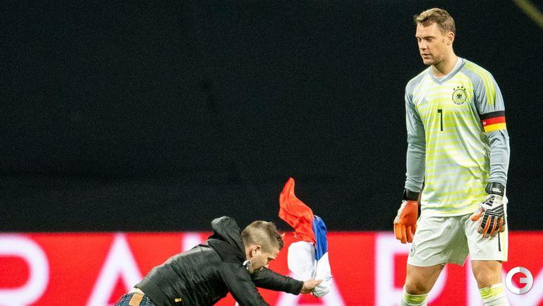 15 ноября. Лейпциг. Германия - Россия - 3:0. Прорыв болельщика.