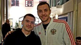 19 ноября. Стокгольм. Артем Дзюба (справа) и Георгий Щенников.