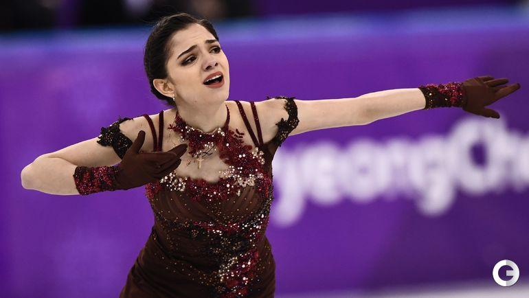 2018 год. Пекин. Евгения Медведева на Олипийских играх.