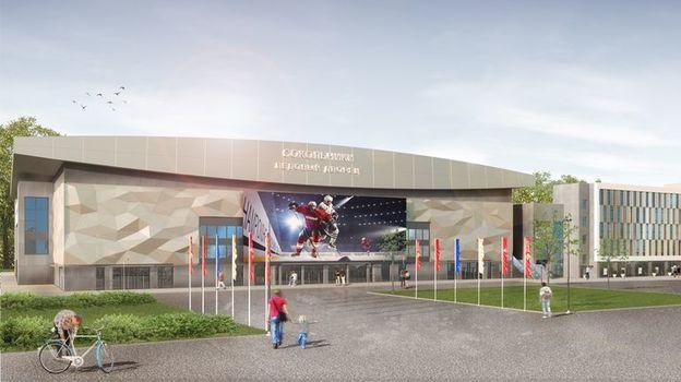 Спартак будет играть на новой арене с сезона 2020/21, новая арена вместит около 12500 зрителей, как будут строить новые Сокольники, проект нового ледового дворца Сокольники, Руслан Гутнов