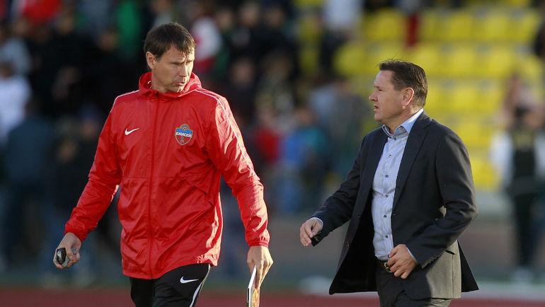 Дмитрий Аленичев (справа) и Егор Титов. Фото Сергей Дроняев