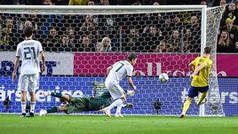 20 ноября. Стокгольм. Швеция - Россия - 2:0. 72-я минута. Гол Маркуса Берга.