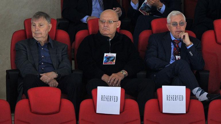 """Виктор Тихонов, Владимир Петров и Борис Михайлов (слева направо). Фото Александр Федоров, """"СЭ"""""""