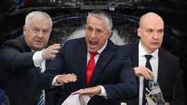 Владимир Крикунов, Боб Хартли и Андрей Разин.