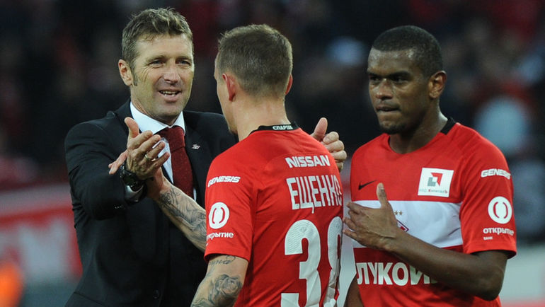 Массимо Каррера (слева) и Андрей Ещенко. Фото Александр Федоров, «СЭ»