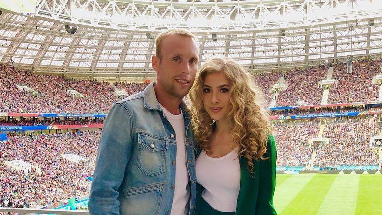 Денис Глушаков и его жена Дарья.