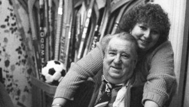 Татьяна Тарасова с отцом Анатолием Тарасовым.
