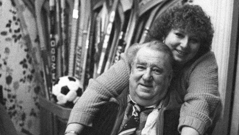 Татьяна Тарасова с отцом Анатолием Тарасовым. Фото Игорь Уткин, ТАСС