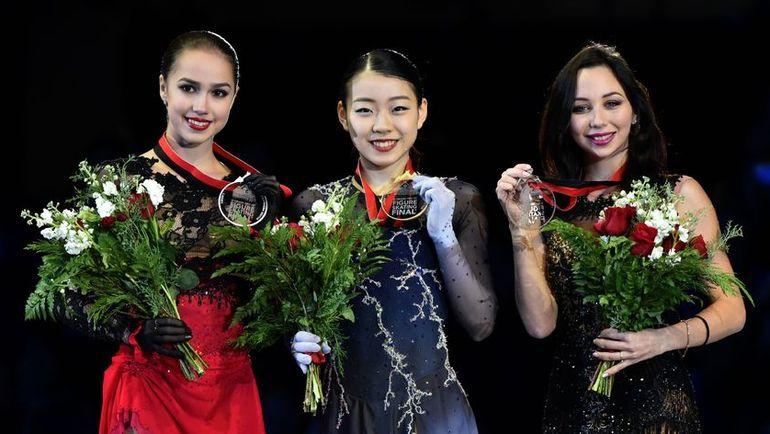 Алина Загитова, Рика, Кихира, Елизавета Туктамышева. Фото AFP