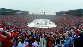 """1 января 2014 года. Энн-Арбор. Игру между """"Детройтом"""" и """"Торонто"""" посетили более 105 тысяч человек."""