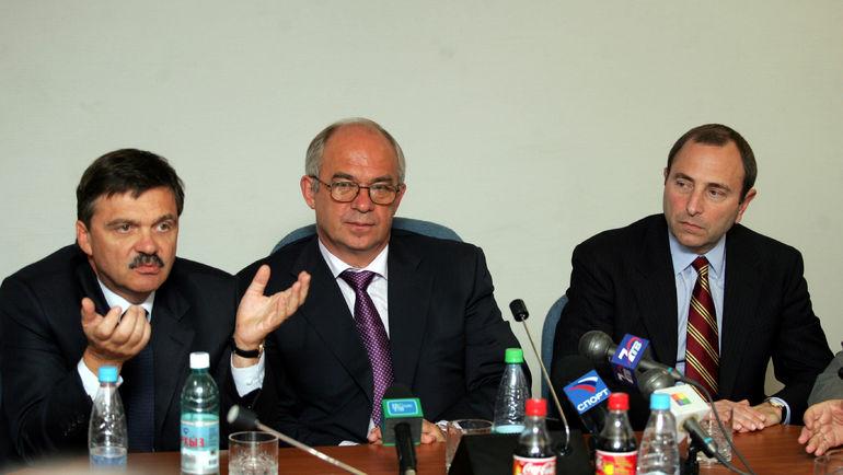 2005 год. Рене Фазель, Александр Стеблин и Гэри Бэттмен (слева направо). Фото Григорий Филиппов