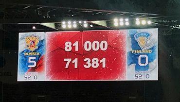 Более 70 тысяч зрителей на хоккее. Это рекорд страны