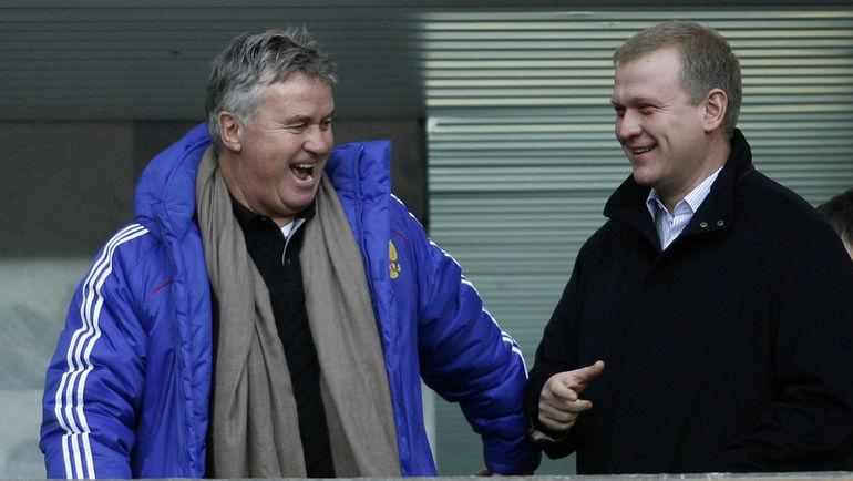 Сергей Капков (справа) и Гус Хиддинк. Фото Алексей Иванов