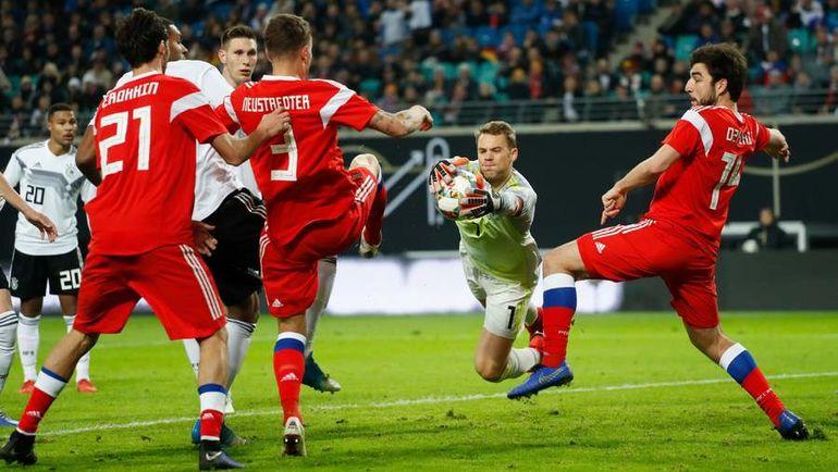 15 ноября. Лейпциг. Германия - Россия - 3:0. Россияне завершили удачный год ЧМ-2018 поражениями от Германии в товарищеской игре и от Швеции в споре за выход в элитный дивизион Лиги наций. Но это далеко не самое страшное. Фото AFP